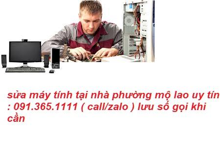 sửa máy tính phường mộ lao uy tín